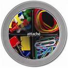 Набор канцелярский Attache Selection Mix цветной (скрепки 28 мм, силовые кнопки, банковские резинки, зажимы для бумаг 19 мм)